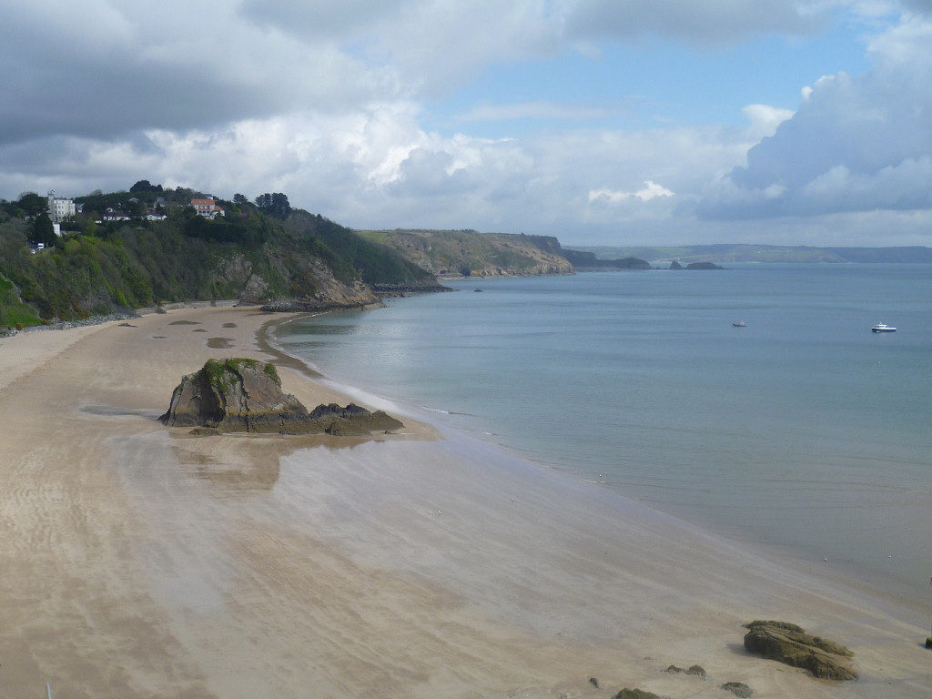 View of Tenby North Beach and Coastline - 8 miles away